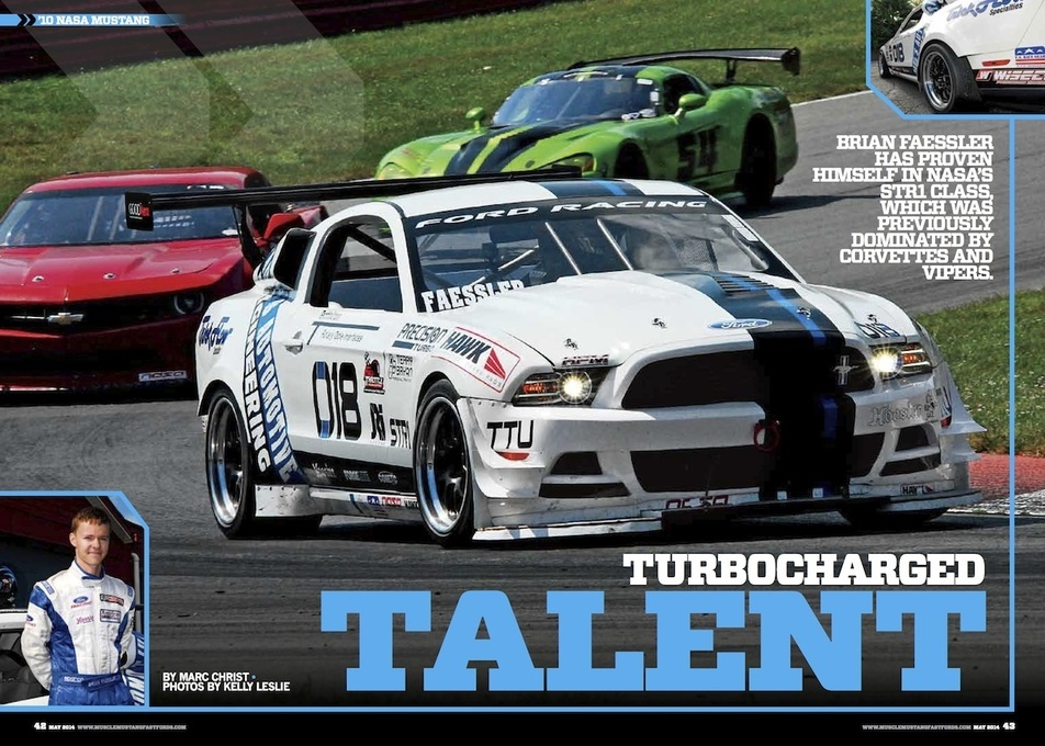 2010 Ford Mustang | Brian Faessler's Turbocharged Mustang Racecar on Forgeline Wheels