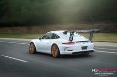Scottie B's Porsche 991 GT3 Super Street Cup on Forgeline One Piece Forged Monoblock GT1 Wheels - Rolling Shot
