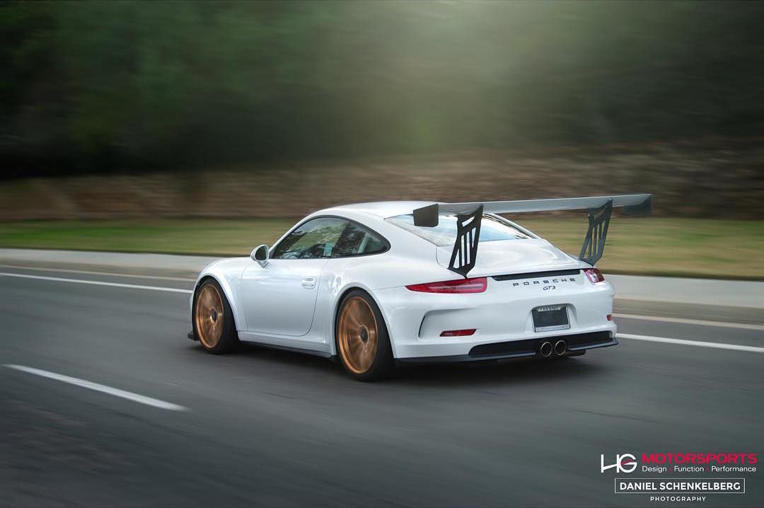 2016 Porsche 911 | Scottie B's Porsche 991 GT3 Super Street Cup on Forgeline One Piece Forged Monoblock GT1 Wheels - Rolling Shot
