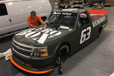 2015 Chevrolet Silverado 1500 | Wrapping a Race Truck- Step 1