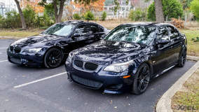 Two BMW' sitting pretty in the back