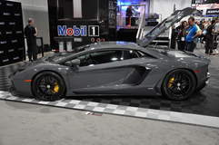 2013 Lamborghini Aventador at Mobile 1 Booth