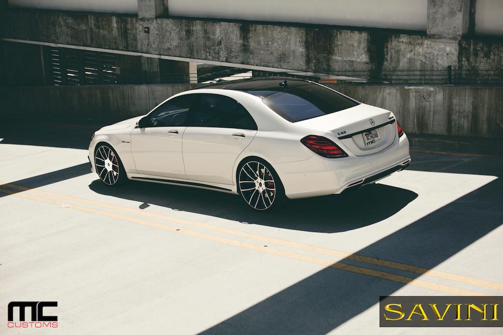 2014 Mercedes-Benz S-Class   '14 Mercedes S63 AMG on Savini Duoblock SV52's