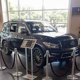 Infiniti QX80 at the Infiniti Austin Dealership with XPEL ULTIMATE installed on the front end