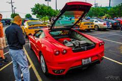 Beautiful Red Ferrari at Cars and Coffee San Antonio