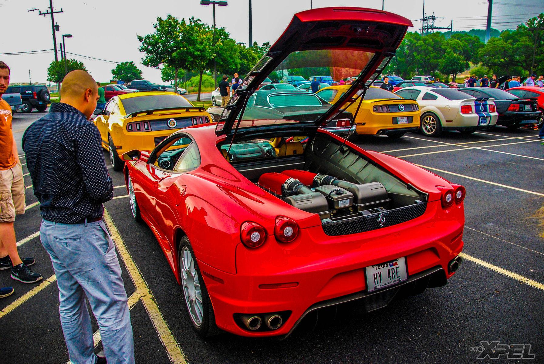 Ferrari  | Beautiful Red Ferrari at Cars and Coffee San Antonio