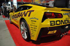 '14 C7 Corvette Stingray in Bondurant booth @ SEMA '13