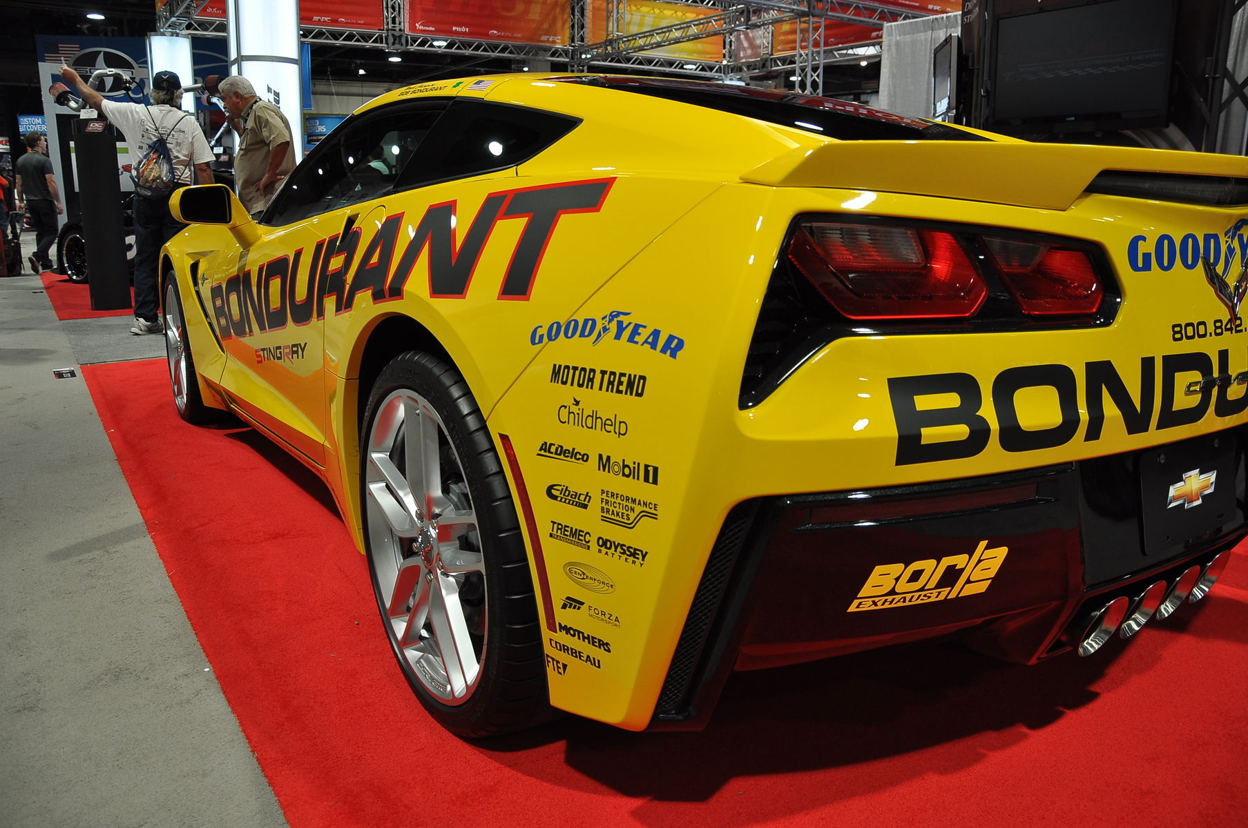 2014 Chevrolet Corvette Stingray | '14 C7 Corvette Stingray in Bondurant booth @ SEMA '13
