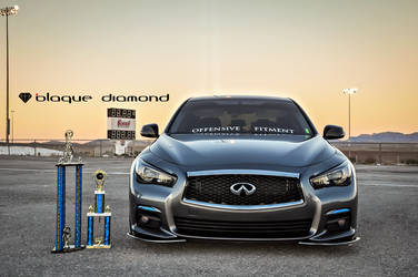 2016 Infiniti Q50 | 2016 Infiniti Q50 Attends Street Driven Tour Fitted With 20 Inch BD-21's in Bronze w Chrome SS Lip