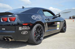 Bryan Johnson's Camaro SS 1LE on Forgeline One Piece Forged Monoblock GA1R Open Lug Cap Edition Wheels