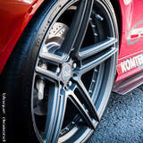 2014 Mercedes with 20 Inch BD-6 Wheels in Full Matte Graphite