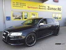 Audi RS6 4F on Forgeline VX3C-SL Concave Stepped Lip Wheels