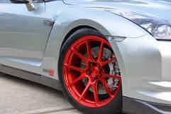 GT-R on Forgeline GA1R Open Lug Cap Edition Wheels
