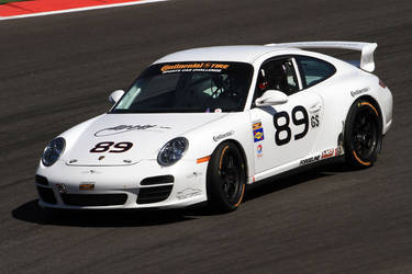 Style, precision and speed are what makes up the 89 Porsche, maneuvering the COTA track on their Continental Tires.