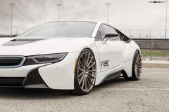 "BMW i8 on 22"" Avant Garde's - Front Side angle"