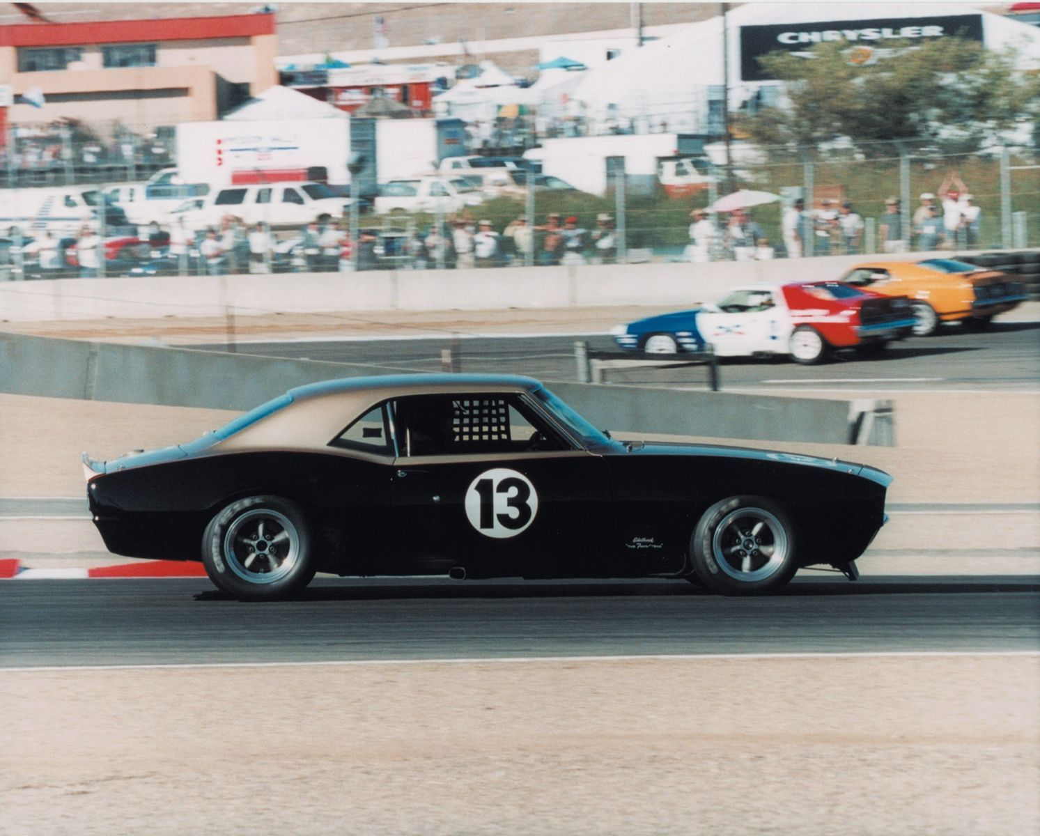 28 Chevrolet Camaro | '68 Smokey Camaro on track