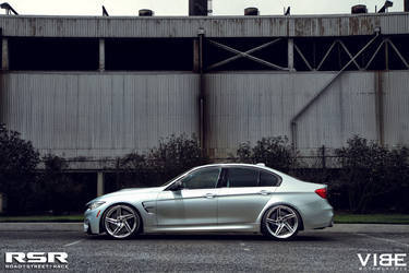 "2015 BMW M3 | '15 M3 on RSR 20"" Wheels - Side Profile Shot"