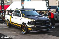 """Pfaff Designs """"Draggin Wagon"""" Dodge Ram 1500 on Forgeline GA3C Wheels - Side Angled Shot"""