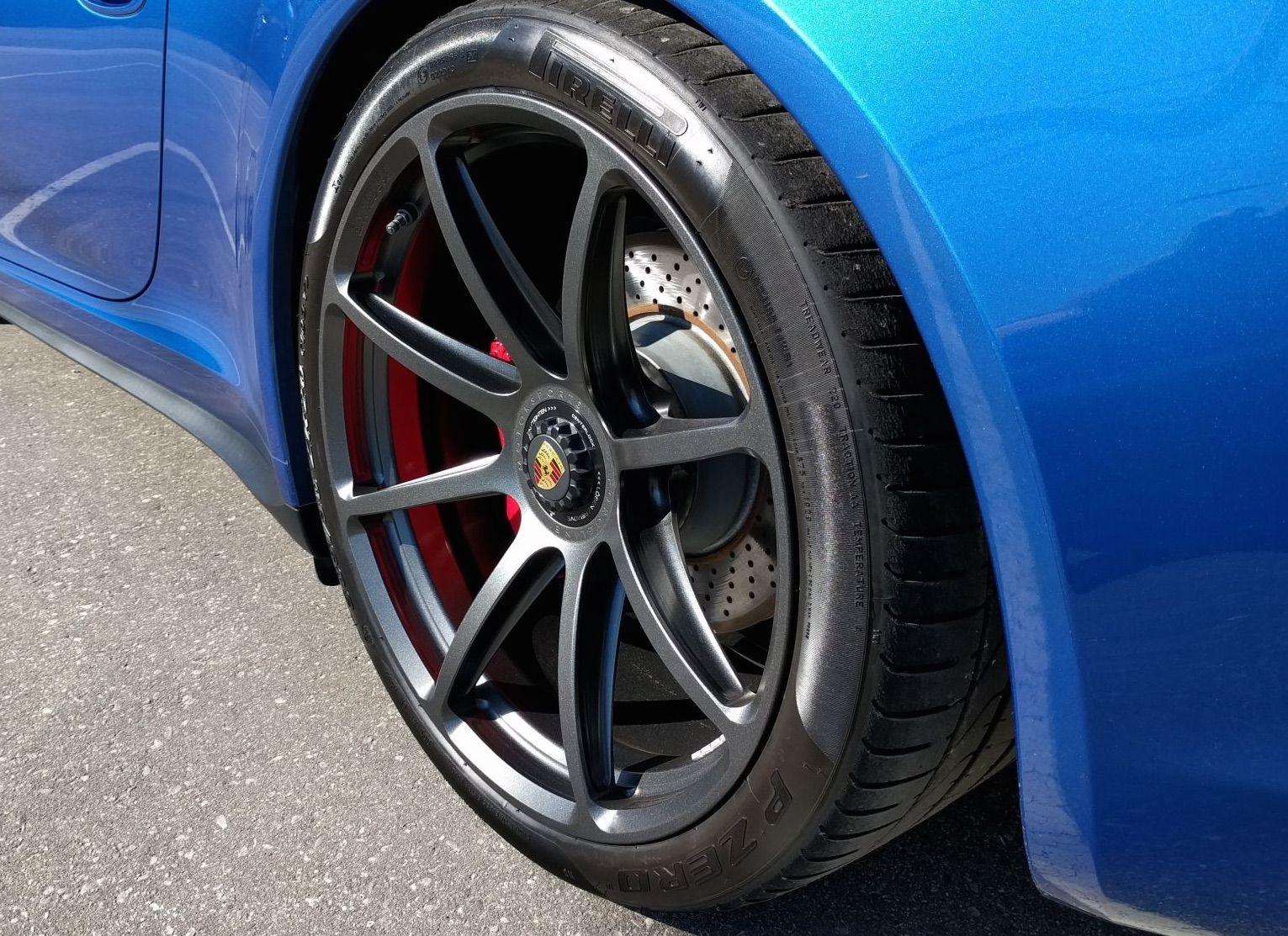 2016 Porsche 911   Vice's Sapphire Blue Porsche 911 GTS on Forgeline One Piece Forged Monoblock GE1 Wheels