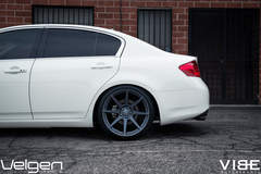 Infiniti G37 on Velgen VMB8 Wheels - Rear Wheel Shot