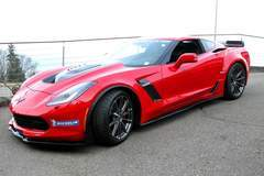 Zumac AG's Red C7 Corvette Z06 on Forgeline One Piece Forged Monolock GT1 5-Lug Wheels