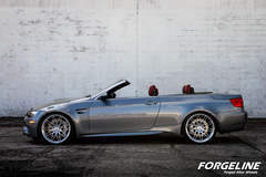 Sherri Schardt's BMW E92 M3 Convertible on Forgeline One Piece Forged Monoblock MT1 Wheels