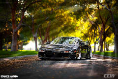 Black Acura NA1 NSX - Gold CCW LM20 Forged 3 Piece Wheels