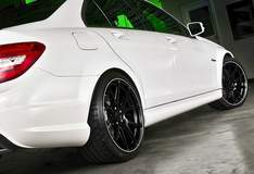 Harrop-Enhanced AMG C63 on Forgeline One Piece Forged Monoblock GA1R Wheels