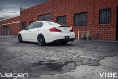 "2009 Infiniti G37 on 20"" Velgen Wheels - Quarter Panel View"