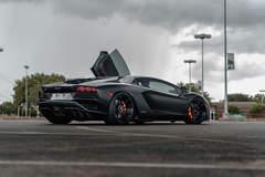 Satin Black Lamborghini Aventador S - ADV.1 ADV5.0 M.V2 CS Series Wheels