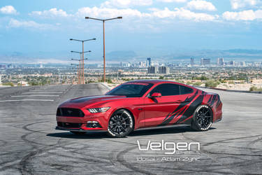 2015 Ford Mustang | 2015 Mustang Ruby Red on Velgen Wheels VMB9