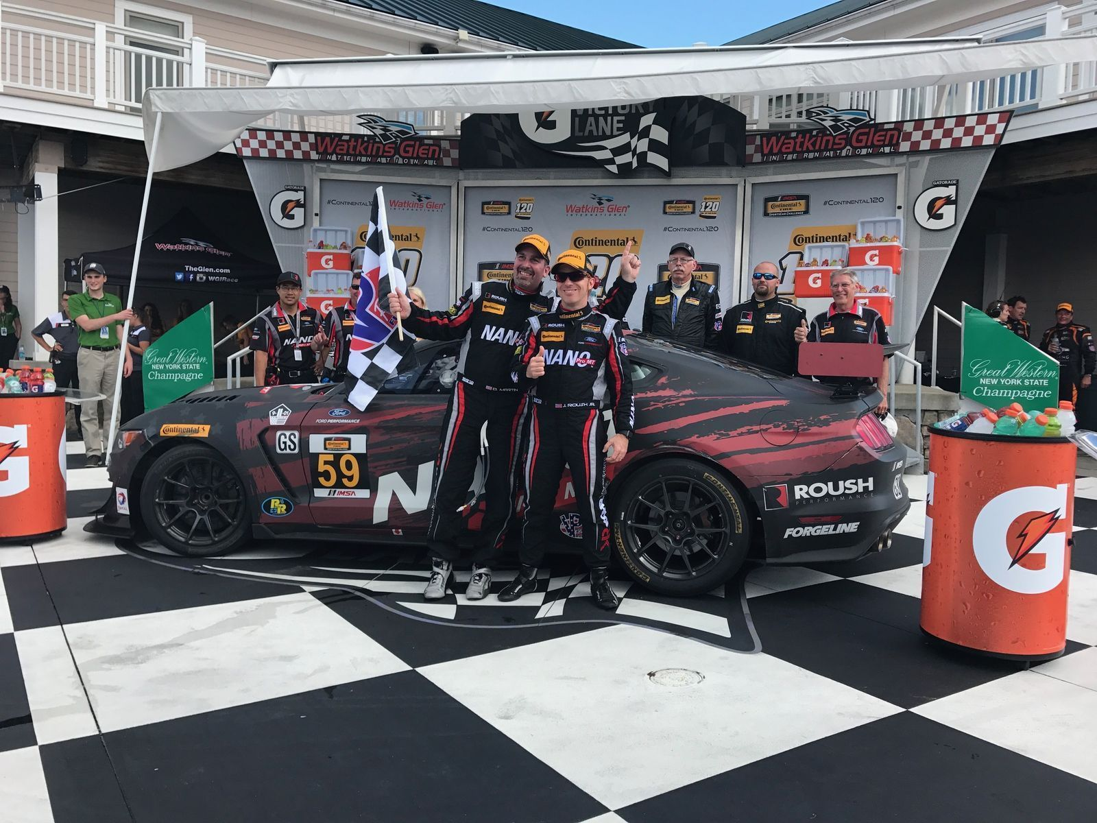 2017 Ford Mustang   Kohr Motorsports Mustang GT4 Wins at Watkins Glen on Forgeline One Piece Forged Monoblock GS1R Wheels