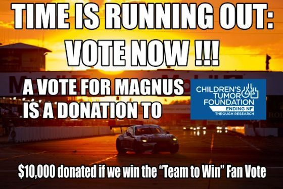 | Vote for Magnus and Help Donate $10,000 to the Children's Tumor Foundation