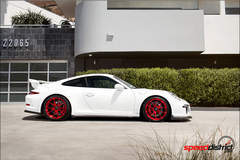 Speed District's 991 Porsche GT3 on Forgeline One Piece Forged Monoblock GA1R Wheels