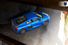 Blue Audi R8 - View From Up Top