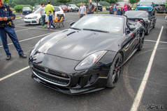 Convertible Jaguar S-Type at Cars and Coffee San Antonio