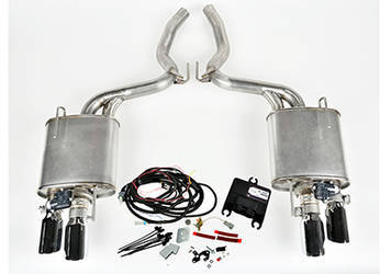 2015 Mustang 5.0L V8 ROUSH Quad Tip Active Exhaust Kit (COUPE ONLY)