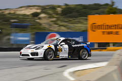 Bodymotion Racing #12 Porsche Cayman on Forgeline One PIece Forged Monoblock GS1R Wheels Wins at Laguna Seca