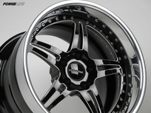 Forgeline SP3P Wheel Finished with Gloss Black Diamond Cut Center