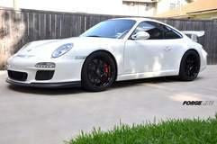 Porsche GT3 on Forgeline One Piece Forged Monoblock GA1R Open Lug Wheels