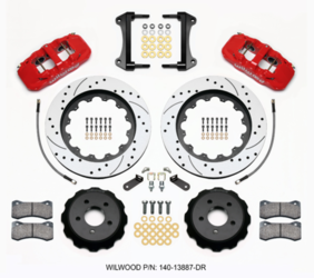 "Wilwood 6-piston Front Brakes w/15"" Drilled & Slotted Rotors"