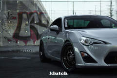 "FR-S on 18"" Klutch ML1 Wheels - Close-up Shot"