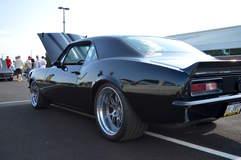 Gary Popolizio's Bent Metal Customs '67 Camaro on Forgeline GA3 Wheels - Rear Shot
