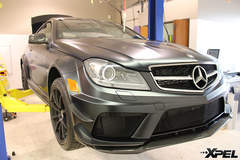 Mercedes-Benz C63 AMG Black Series with XPEL STEALTH matte-finish clear bra
