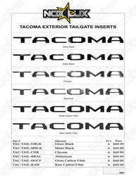 2016 Toyota Tacoma Tailgate Gloss Black Logo Insert