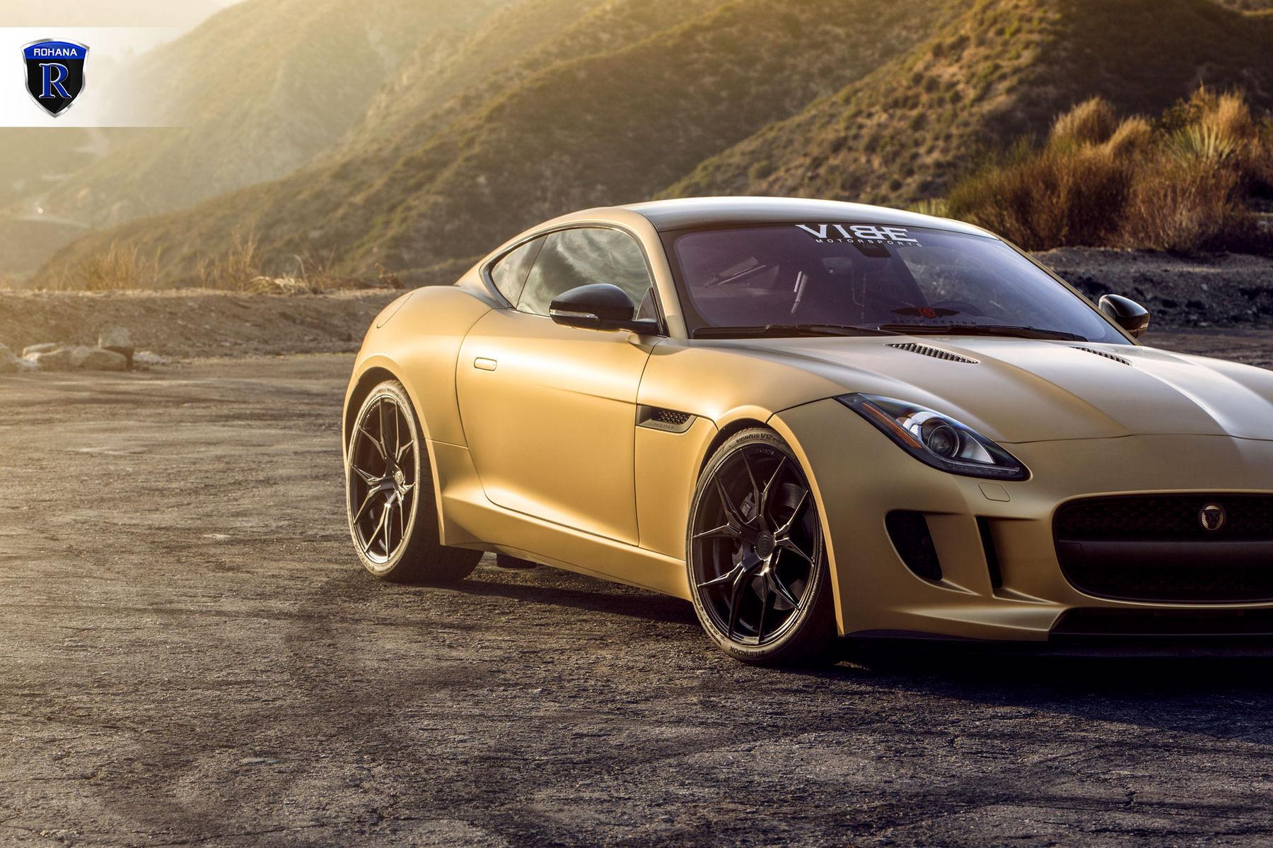 2016 Jaguar F-Type | Gold Jaguar F-Type - Passenger Side Shot