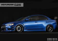 VOLKRACING G25 Formula Silver/Black Clear/Rim Edge