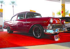 """Flat 12 Gallery's """"Trifecta"""" '56 Chevy Bel Air on Forgeline RB3C Wheels"""