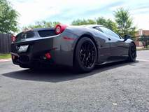 Track-Prepped Ferrari 458 Italia on Forgeline One Piece Forged Monoblock GA1R Open Lug Wheels