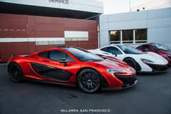 3 McLaren P1s @ McLaren San Francisco